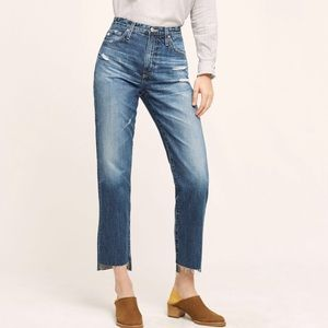 AG | Anthropologie High Rise Tapered Jeans